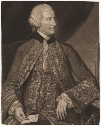 NPG D4160; John Montagu, 4th Earl of Sandwich by Valentine Green, after  Johan Joseph Zoffany